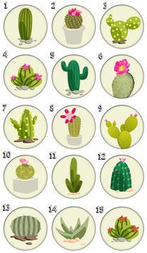 "Marque-pages tige ""Cactus"""