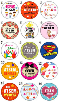 "Badge ""ATSEM"""