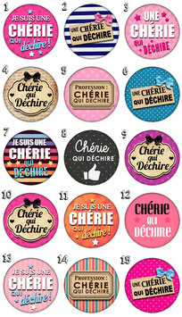 "Badge ""Chérie I"""