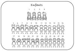 """Personnages """"Enfants"""" avec prénom"""