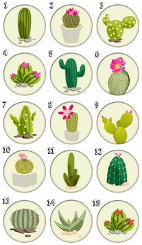 "Marque-pages pince ""Cactus"""