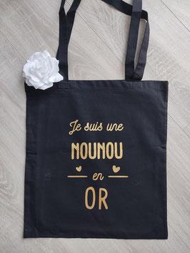 "Tote bag ""Nounou en Or"""