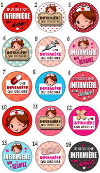 "Badge ""Infirmière I"""