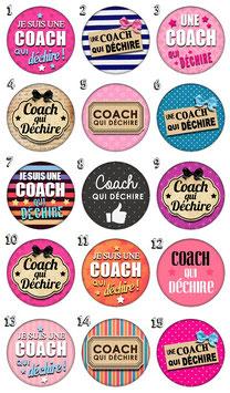"""Accroche-sac """"Coach qui déchire"""""""