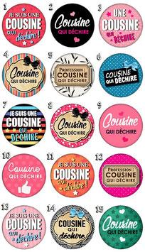 """Badge """"Cousine qui déchire"""""""