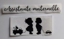 """Stickers voiture """"Assistante maternelle"""""""