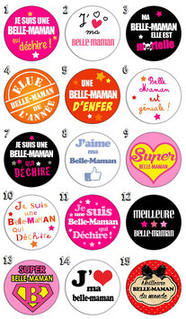"Badge ""Belle maman"""