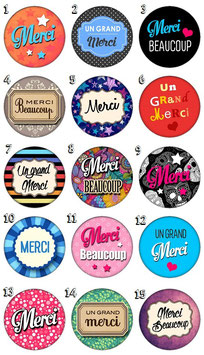 "Broche ""Merci"""