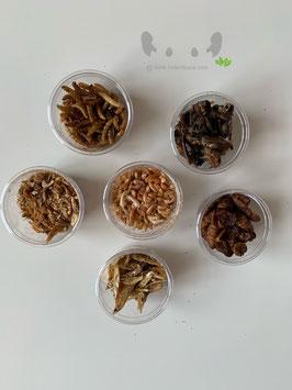 Proefpakketjes dierlijke eiwitten