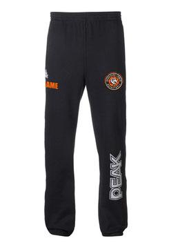 PEAK Sweatpants Black mit Bergische Löwen Logo und Wunschnamen