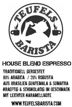 HOUSE BLEND ESPRESSO 250g