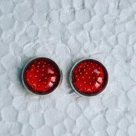 12 mm Metall Ohrstecker Erdbeeren