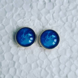 12 mm Metall Qualle blau