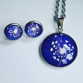 Pusteblumen blau mit Herzen