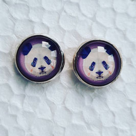 12 mm Metall Panda lila