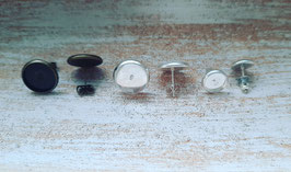 Metall silber/bronze 8mm, 12mm mit Foto (Paar)