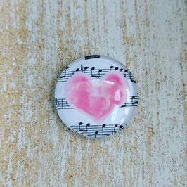 Herz rosa mit Noten