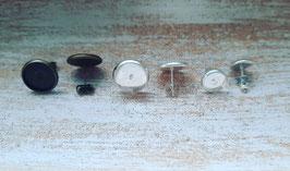Metall silber/bronze 8mm, 12mm (Paar)
