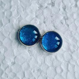 12 mm Metall Glitzer blau