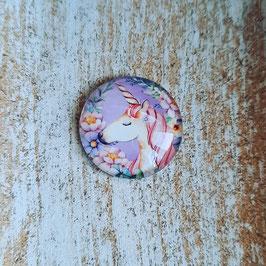 Einhorn lila Hintergrund