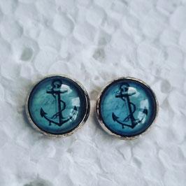 12 mm Metall Anker grau auf hellblau