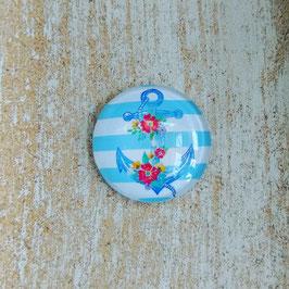Anker blau mit Blume