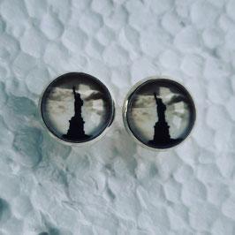 12 mm Metall Freiheitsstatue schwarz