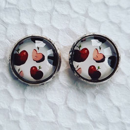 12 mm Metall Äpfel rot