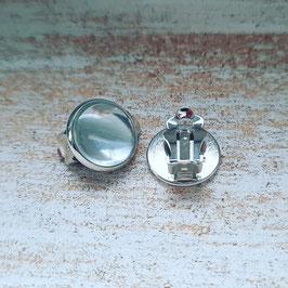 Metall Clips silber 12mm (Paar)