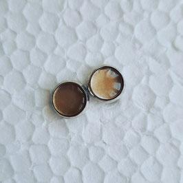 8 mm Metall Ohrstecker gold