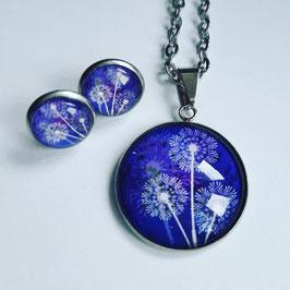 Pusteblumen blau mit drei Blüten