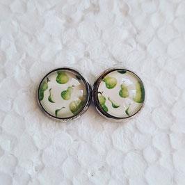 12 mm Metall Birnen grün