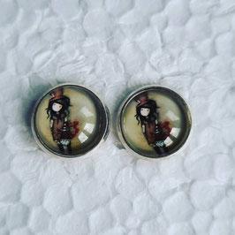 12 mm Metall Ohrstecker Mädchen 8