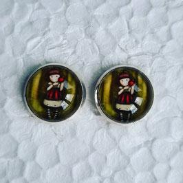 12 mm Metall Ohrstecker Mädchen 9