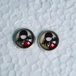 12 mm Metall Ohrstecker Mädchen 3