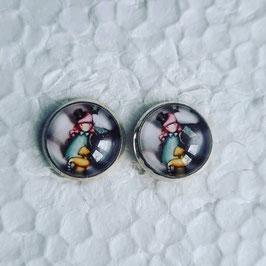 12 mm Metall Ohrstecker Mädchen 2