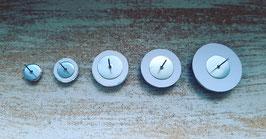 Edelstahl randlos 8mm, 12mm, 16mm, 18mm, 20mm, 25mm (Paar)