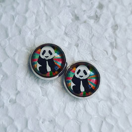 12 mm Metall Panda bunt