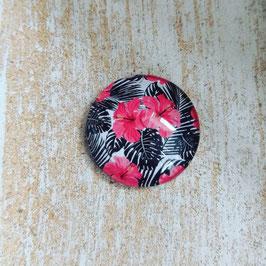 Blume schwarz pink