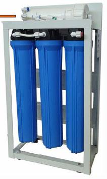 """Aquili Osmoseanlage mit 3 Filter 20"""" mit Spülventil und Manometer 1134 l"""