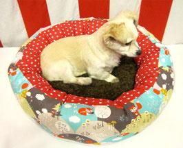 Hundebett 2 in 1 für Welpen, kleine Hunde und Katzen, Hundedonut