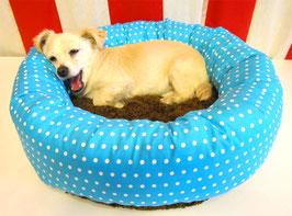 Hundebett für Welpen, kleine Hunde und Katzen, Hundedonut