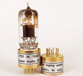 Adapter 12AX7 (bottom) to 5755 (top).