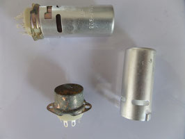 Tube socket and shield