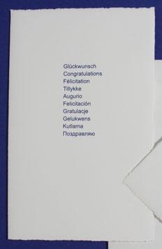 Glückwunsch, 10 Sprachen