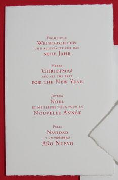 Weihnachts- und Neujahrsgrüße, 4 Sprachen