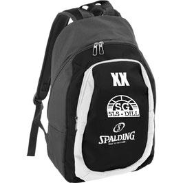SPALDING Backpack essential mit SG-Logo und Initialen