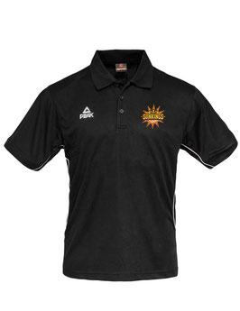 PEAK Poloshirt schwarz mit SUNKINGS-Logo und Wunschname