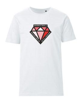DIAMONDS T-Shirt weiß mit DIAMONDS-Logo und Wunschname