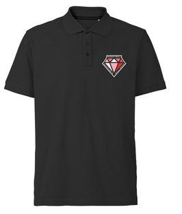 DIAMONDS Poloshirt schwarz mit Logo und Wunschname